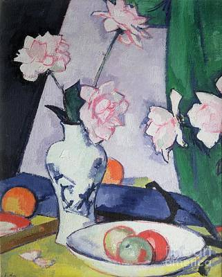 Fruit Bowl Painting - Flowers by Samuel John Peploe