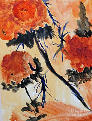 Art Print featuring the painting Flowers by Sandy McIntire
