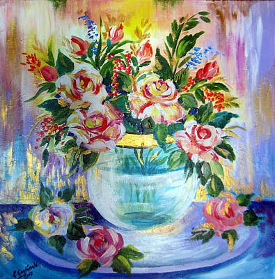 Painting - Flowers Still Life  by Roberto Gagliardi