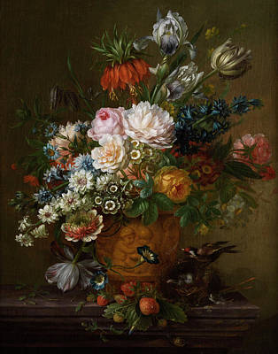 Flowers Still Life Art Print by Willem van Leen