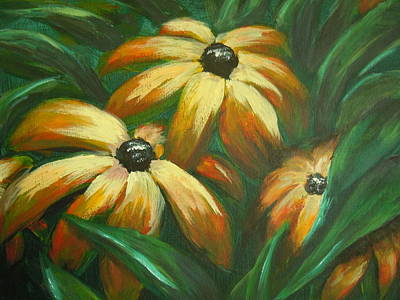 Art Print featuring the painting Flowers That Don't Sleep by Dan Whittemore