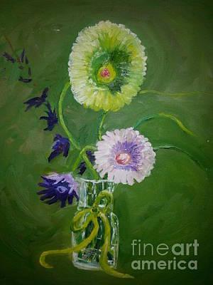 Gerber Daisy Drawing - Flowers That Never Die Series by Earl Daniels