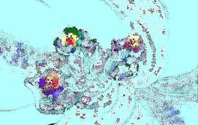 Flowers Under Ice Art Print by Beebe  Barksdale-Bruner