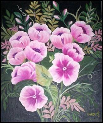 Flowers Art Print by Usha Rai