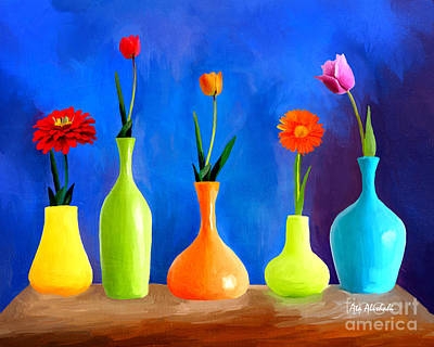 Painting - Flowers Vase by Ata Alishahi