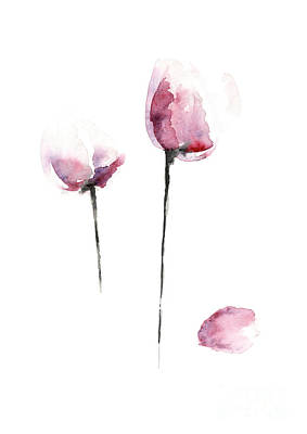 Flowers Watercolor Living Room Decor Art Print
