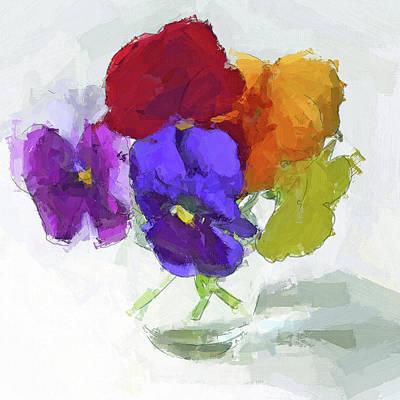 Digital Art - Flowers Waterly by Yury Malkov