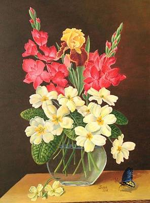 Painting - Flowers by Zdzislaw Dudek