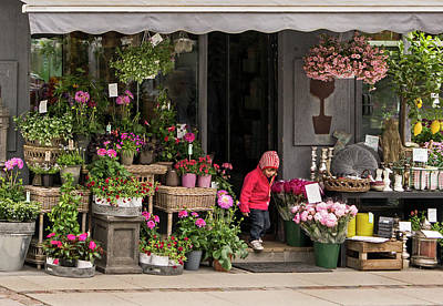 Photograph - Flowershop by Inge Riis McDonald