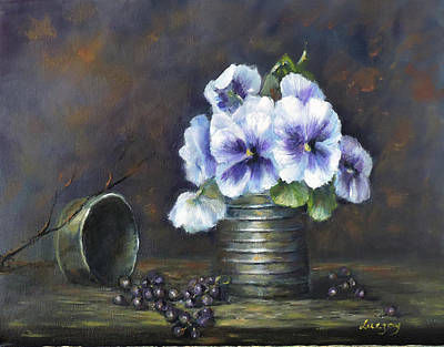 Painting - Flowers,pansies Still Life by Luczay