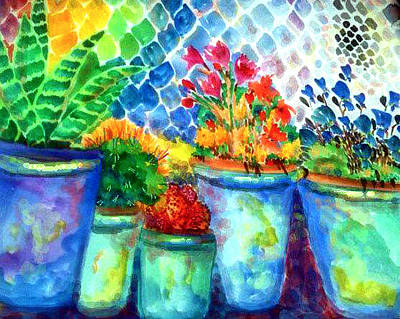 Painting - Flowerspots by Patricia Lazaro