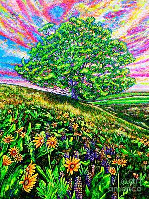 Painting - Flowers.tree by Viktor Lazarev