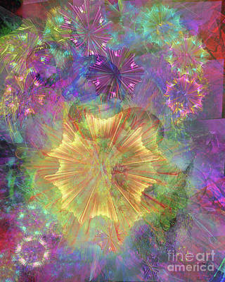 Digital Art - Flowerworks by John Beck