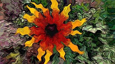 Digital Art - Flowerworks by Theresa Willingham