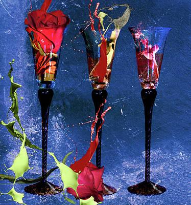 Digital Art - Flowery Cocktails by M Montoya Alicea