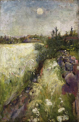 Modern Painting - Flowery Meadow At Veierland by Edvard Munch
