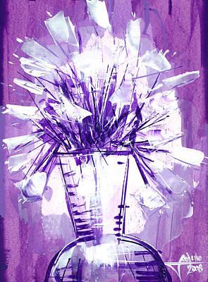 Flowery Purple II Art Print by Jose Julio Perez