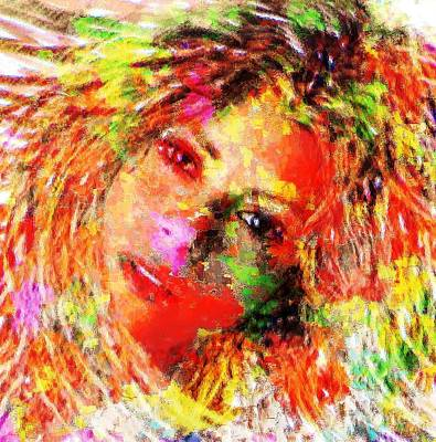 Painting - Flowery Shakira by Navo Art