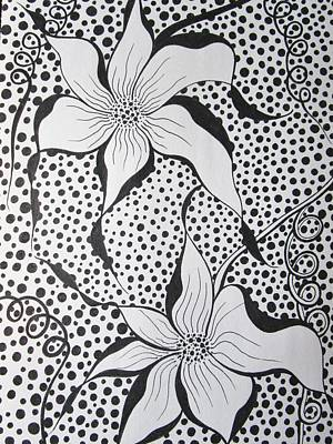 Passionate Drawing - Flowery Spot by Rosita Larsson