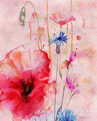 Digital Art - Flowery - by Variance Collections