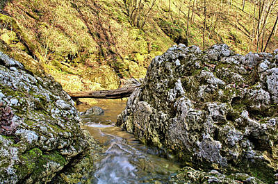Photograph - Flowing Between Dolomite 2 by Bonfire Photography