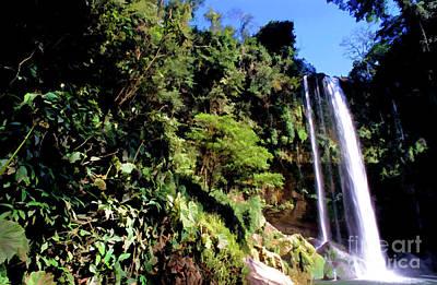 Digital Art - Flowing Cascades Of Misol-ha Waterfall by Sami Sarkis