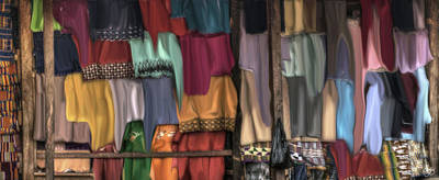 Photograph - Flowing Colors In An African Market by Wayne King