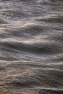 Photograph - Flowing Creek Sunset Abstract Portrait by James BO Insogna