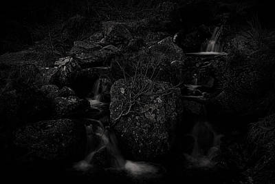 Flowing Dark Art Print by Tim Haynes