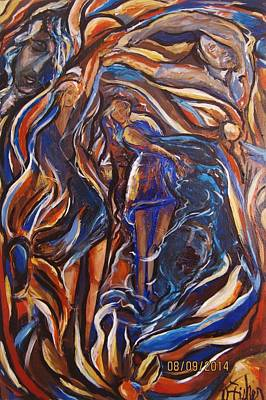 Painting - Flowing by Dawn Fisher