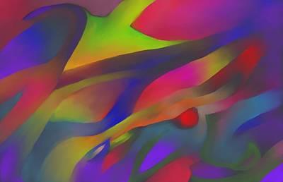 Flowing Energies Art Print by Peter Shor