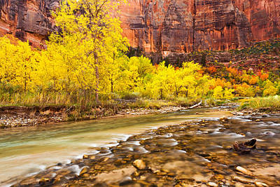Jmp Photograph - Flowing Into Autumn  by James Marvin Phelps