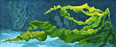 Undersea Painting - Flowing Kelp by Marion Rose