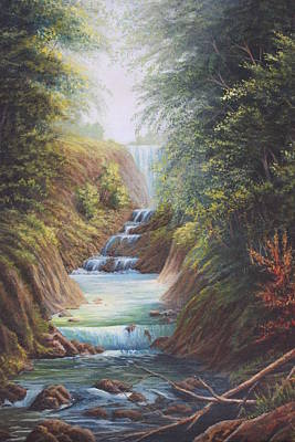Flowing River Art Print by Diana Miller