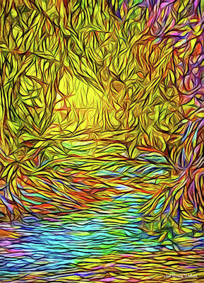 Digital Art - Flowing River Vision by Joel Bruce Wallach