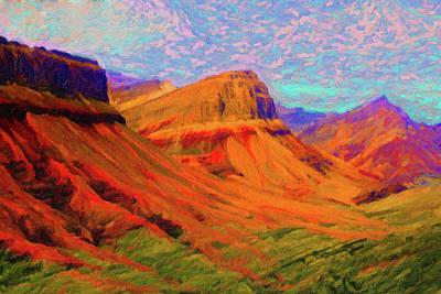 Digital Art - Flowing Rock by Chuck Mountain