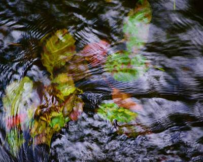 Photograph - Flowing Stream by Bonnie Bruno