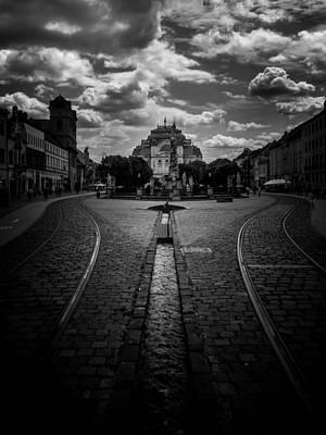 Canal Street Line Photograph - Flowing Street Of Kosice by Kaleidoscopik Photography