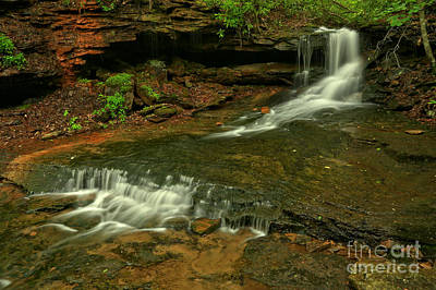 Photograph - Flowing Through The Forbes State Forest by Adam Jewell