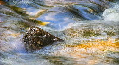 Stream Photograph - Flowing Water by Adam Romanowicz