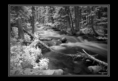 Photograph - Flowing Water In Infrared by Thomas Bomstad