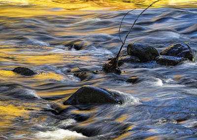 Photograph - Flowing Water Over A Rocky Riverbed by Randall Nyhof