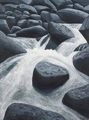Painting - Flowing Water Richland Creek by Garry McMichael
