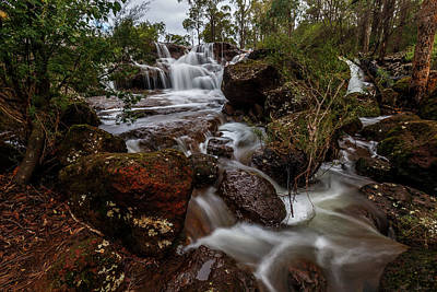 Photograph - Flowing Waterfall by Robert Caddy