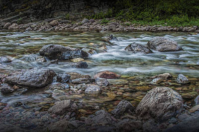Photograph - Flowing Western Stream In Glacier National Park by Randall Nyhof