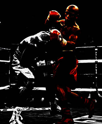 Floyd Mayweather Mixed Media - Floyd Mayweather Beat Down by Brian Reaves