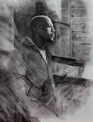 Drawing - Reflections Of Floyd Mayweather by Noe Peralez