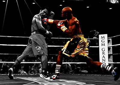 Boxer Mixed Media - Floyd Mayweather Vs Manny Pacquiao by Brian Reaves