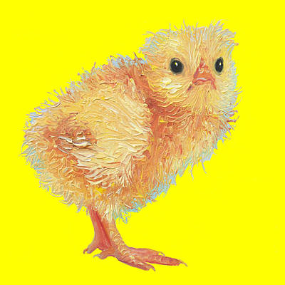 Painting - Fluffy Chick by Jan Matson
