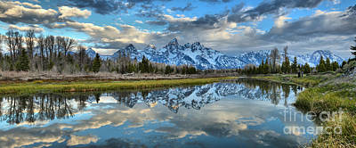 Photograph - Fluffy Clouds And Reflections At Schwabacher by Adam Jewell